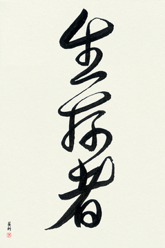 Japanese Calligraphy Get Well Wishes - Survivor (seizonsha) - Copyright © 2017 Takase Studios, LLC. All Rights Reserved.