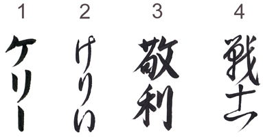 Four Ways to Write Kelly in Japanese