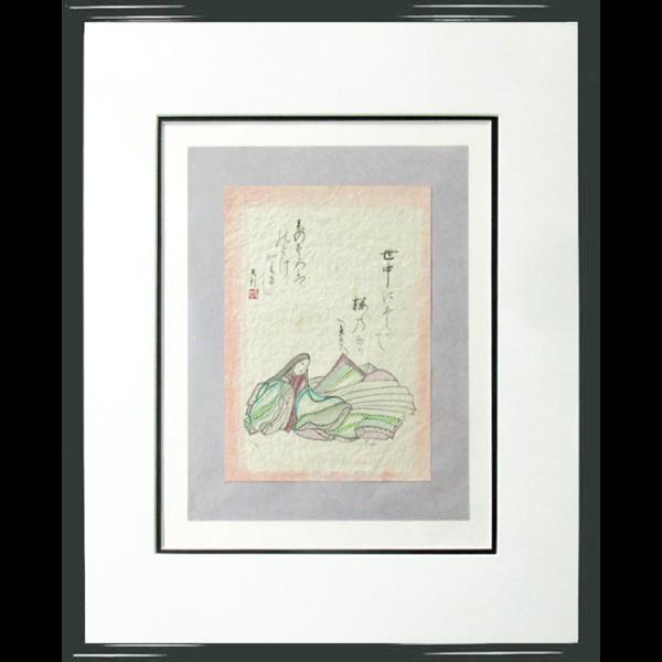 Poem by Ariwara no Narihira by Master Eri Takase