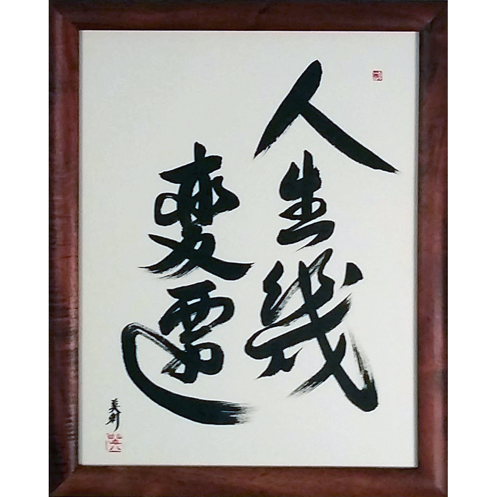 Japanese Calligraphy By Master Eri Takase: Vicissitudes Of Life